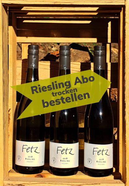 Wein Abo Riesling trocken 3 Flaschen