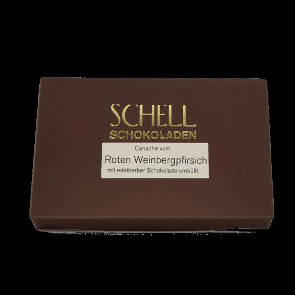 Roter Weinbergpfirsich Schokolade