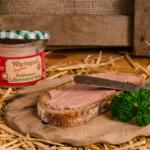 Delikatess Leberwurst fein auf Brot
