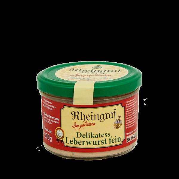 Delikatess Leberwurst fein im Glas