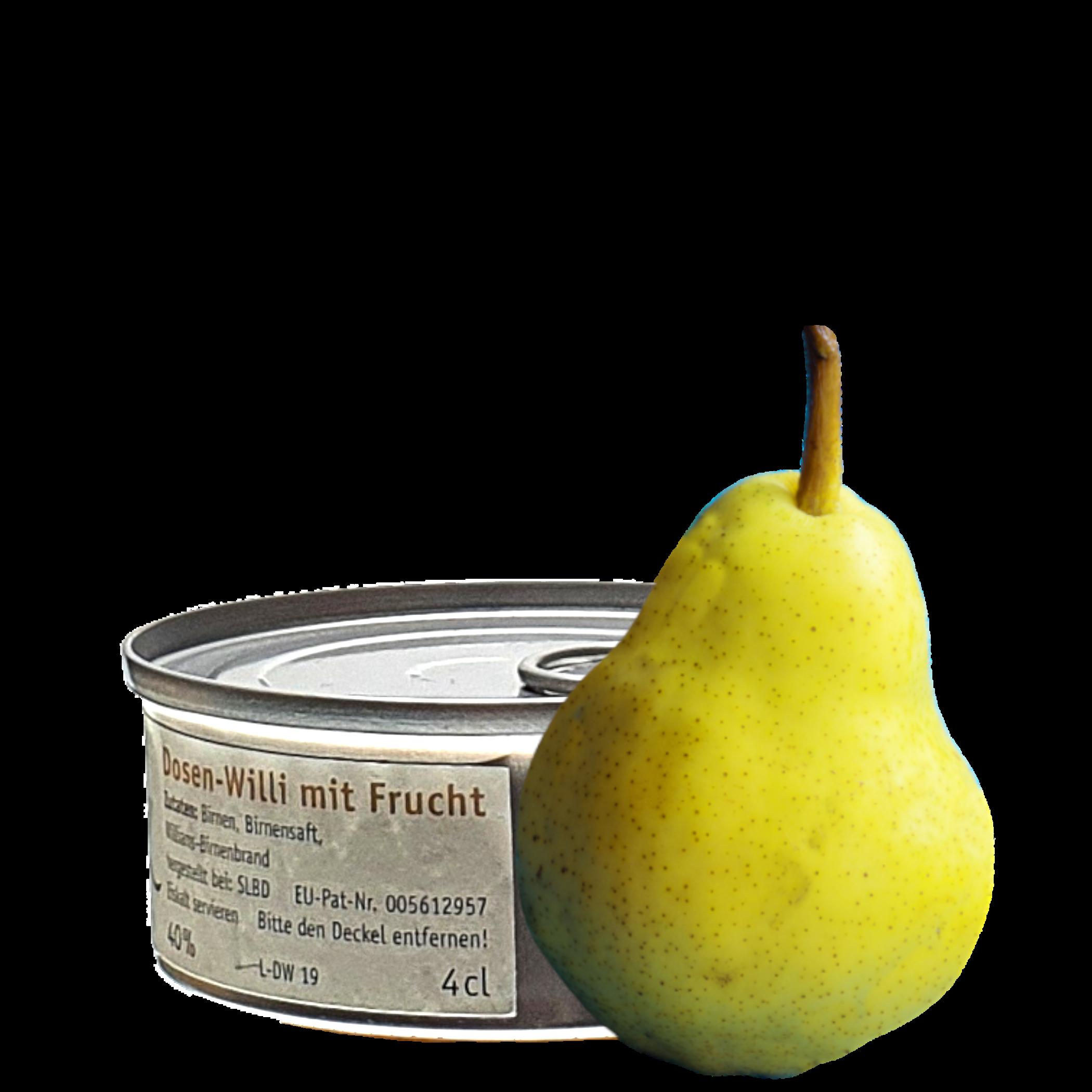 Ein Dosen-Willi der Dosenschnaps mit Frucht
